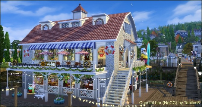Sims 4 Coastal bar at Tanitas8 Sims