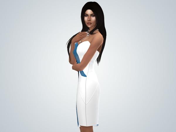 Lace Wave Dress by TheGilbertSim at TSR image 790 Sims 4 Updates