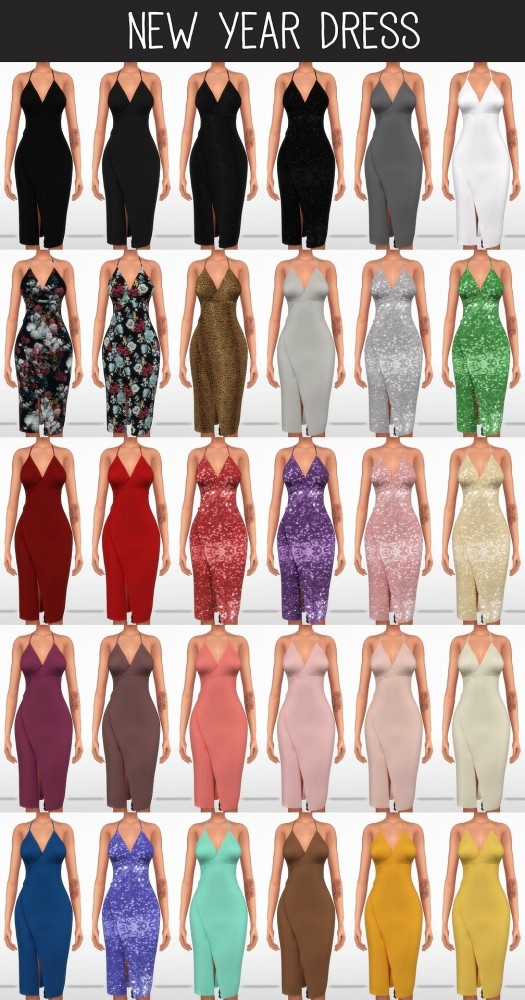 New Year Dress At Elliesimple 187 Sims 4 Updates