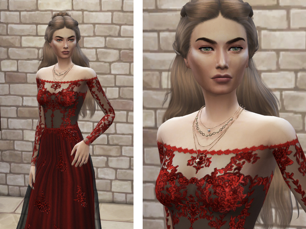 Sims 4 Cersei Lannister by koalas1234 at TSR