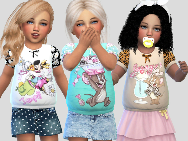 Sims 4 Cute t shirts Collection 034 by Pinkzombiecupcakes at TSR