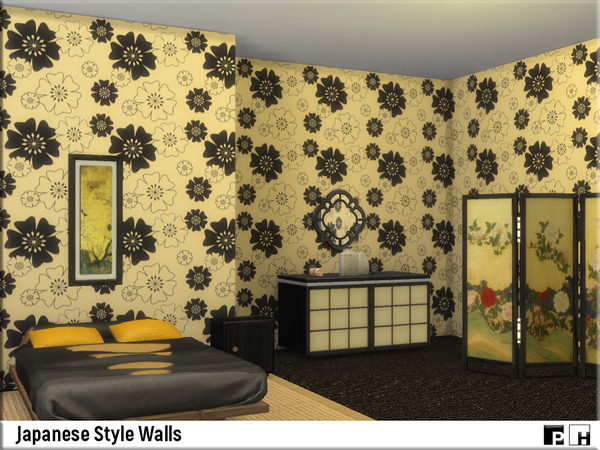 Japanese Style Walls by Pinkfizzzzz at TSR image 8103 Sims 4 Updates