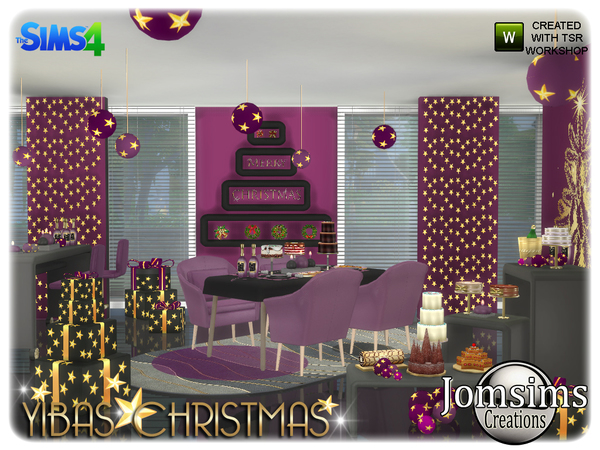 Yibas christmas dining room by jomsims at TSR image 8111 Sims 4 Updates