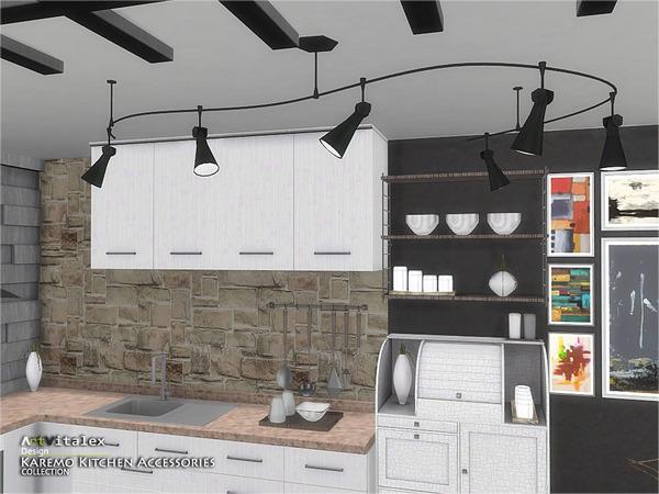 Sims 4 Karemo Kitchen Accessories by ArtVitalex at TSR