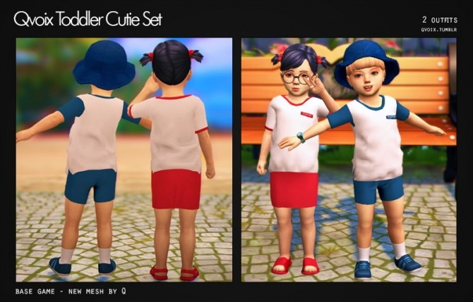 Cutie Set T at qvoix – escaping reality image 8121 670x429 Sims 4 Updates