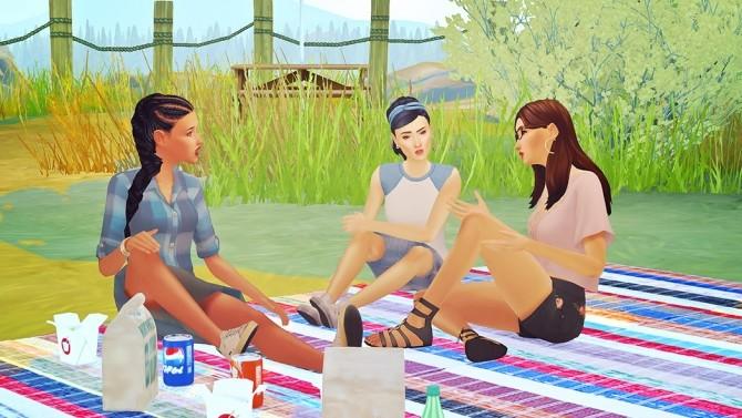 Sims 4 Josie Friends Lounging Single Pose Pack at Josie Simblr