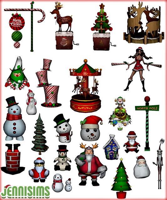 Sims 4 Collection Christmas Land at Jenni Sims