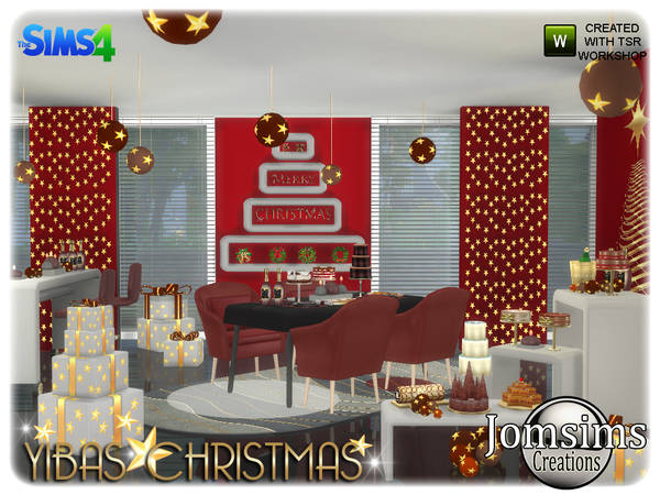 Yibas christmas dining room by jomsims at TSR image 829 Sims 4 Updates