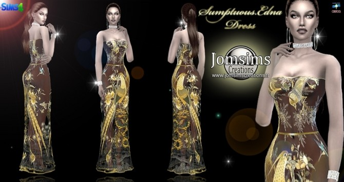 Sumptuous edna dress at Jomsims Creations image 833 670x355 Sims 4 Updates