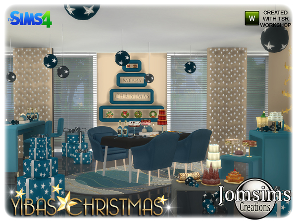 Yibas christmas dining room by jomsims at TSR image 838 Sims 4 Updates
