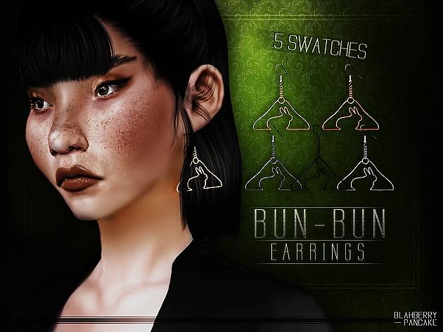 Sims 4 Bun Bun Earrings at Blahberry Pancake