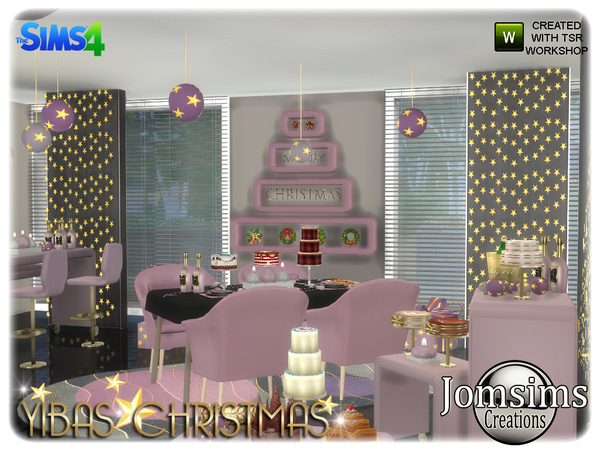Yibas christmas dining room by jomsims at TSR image 847 Sims 4 Updates