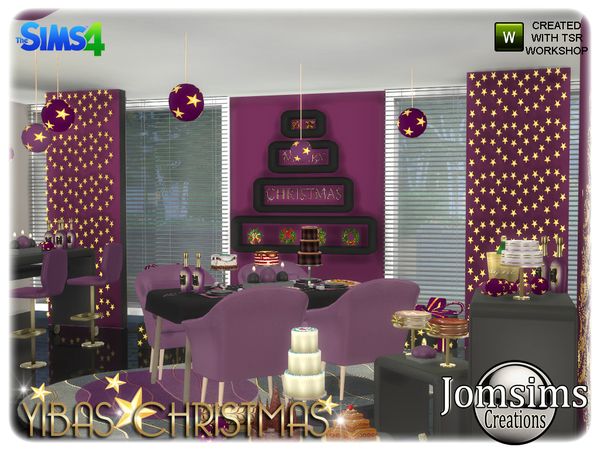 Yibas christmas dining room by jomsims at TSR image 857 Sims 4 Updates