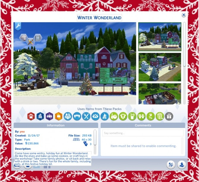 Sims 4 Winter Wonderland by Simmiller at Mod The Sims