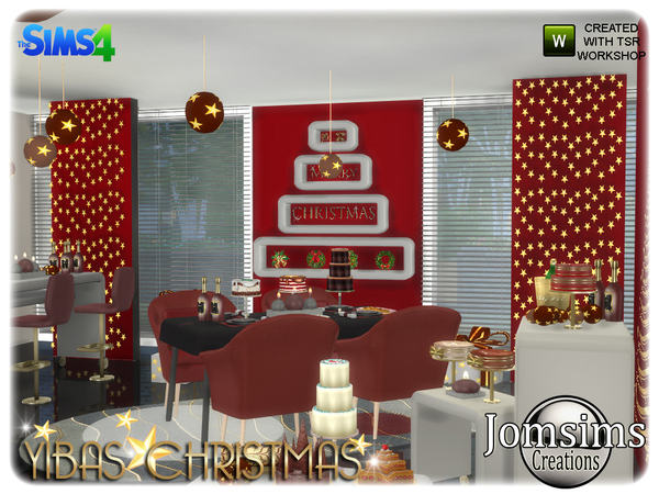 Yibas christmas dining room by jomsims at TSR image 867 Sims 4 Updates