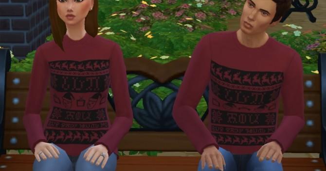 IDKHOW Simlish Christmas Sweater by KaraStars at Mod The Sims image 876 670x353 Sims 4 Updates