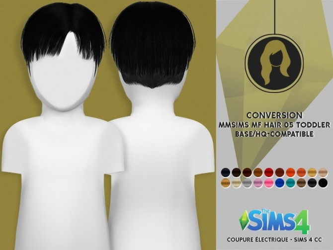 Sims 4 MMSIMS MF HAIR FOR TODDLER by Thiago Mitchell at REDHEADSIMS