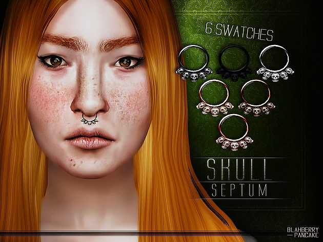 Skull Septum at Blahberry Pancake image 8913 Sims 4 Updates