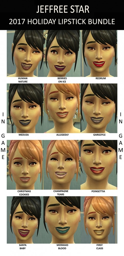 Lipstick 2017 Holiday Bundle By Simmiller At Mod The Sims