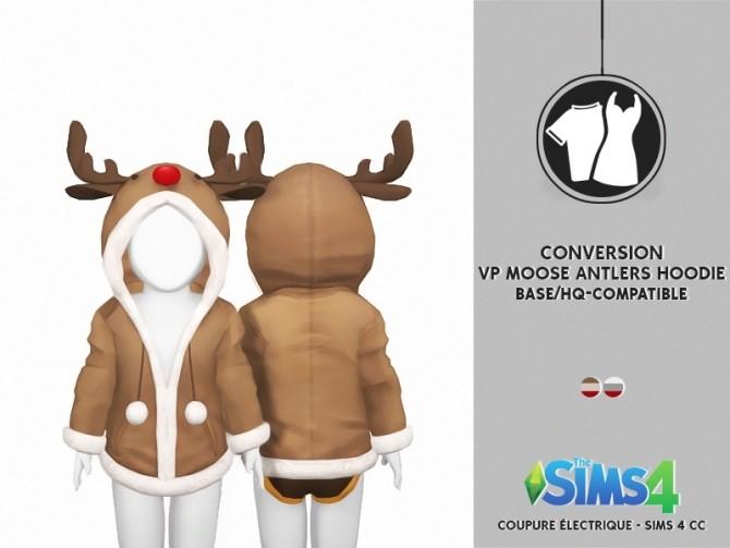 Sims 4 VENUS PRINCESS MOOSE ANTLERS HOODIE by Thiago Mitchell at REDHEADSIMS