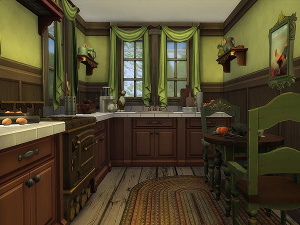 Sims 4 Pod Jedlami winter cottage by dasie2 at TSR