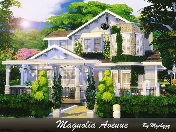 Sims 4 Magnolia Avenue by MychQQQ at TSR
