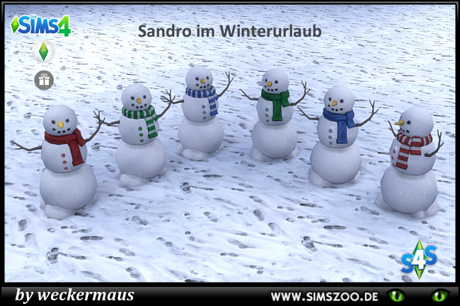 Snowman by weckermaus at Blacky's Sims Zoo image 9120 Sims 4 Updates