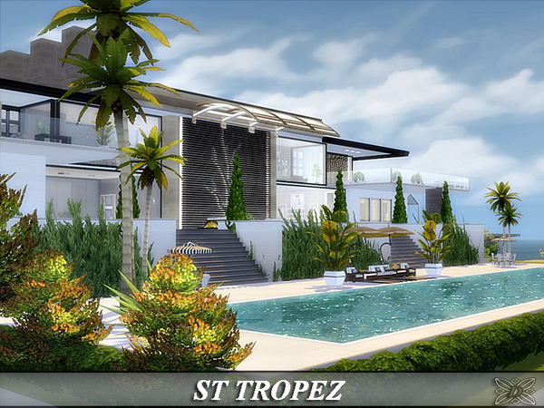Sims 4 ST TROPEZ luxury home by Danuta720 at TSR