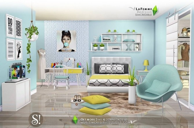 LaFemme bedroom first part at SIMcredible! Designs 4 » Sims