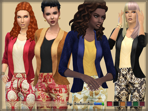 Velvet Jacket by bukovka at TSR image 9216 Sims 4 Updates