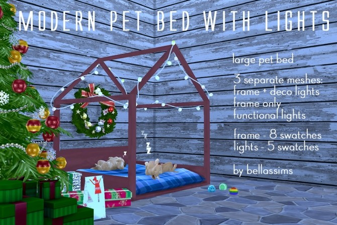 Modern pet bed with lights at Bellassims image 923 670x447 Sims 4 Updates