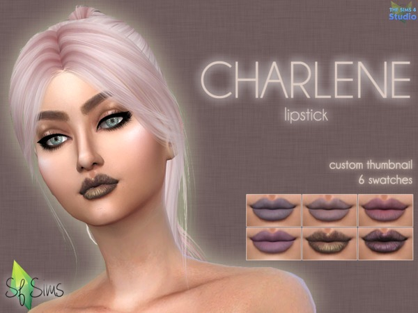 Sims 4 CHARLENE lipstick by SF Sims at TSR