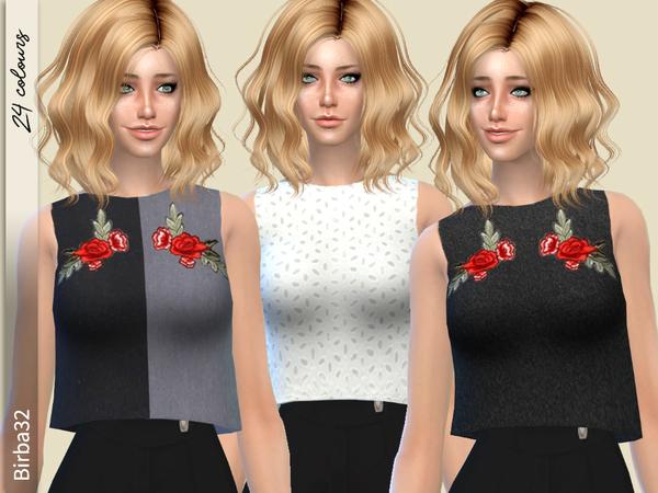 Emma top by Birba32 at TSR image 960 Sims 4 Updates
