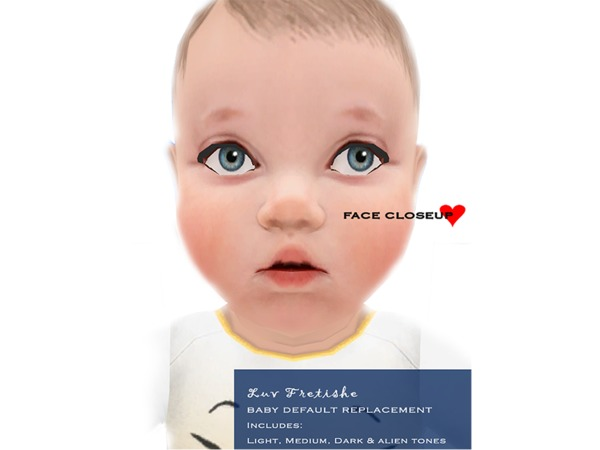 Sims 4 Baby Default Replacement V1 skintone by LuvFretishe at TSR