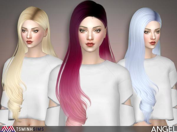 Sims 4 Angel Hair 49 by TsminhSims at TSR