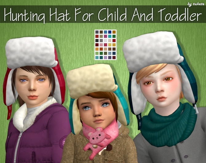 Hunting Hat For Child And Toddler At Tukete 187 Sims 4 Updates