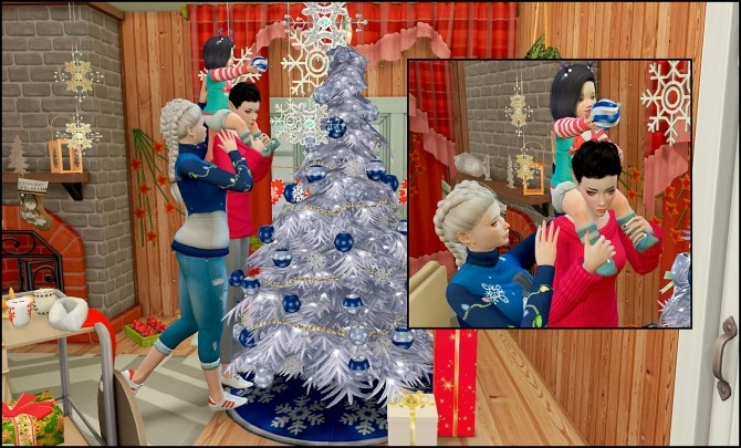 Sims 4 Christmas Poses.My First Christmas Poses At Rethdis Love Sims 4 Updates