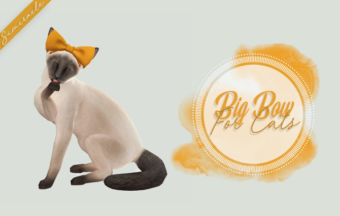 Big Bow For Cats at Simiracle image 98 670x427 Sims 4 Updates