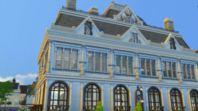 Sims 4 When Baroque Met Modern Mansion by norenegonc at Mod The Sims