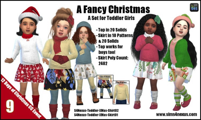 A Fancy Christmas top & skirt by SamanthaGump at Sims 4 Nexus image 99 670x402 Sims 4 Updates