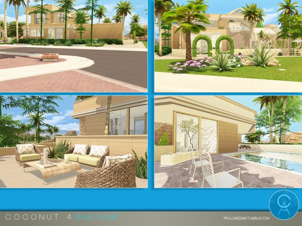 Sims 4 Coconut 4 house by Pralinesims at TSR