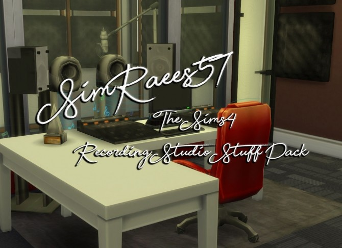 Sims 4 Recording Studio Stuff Pack by SimRaees57 at Mod The Sims