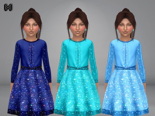 MP Girl Sparkly Dress by MartyP at TSR image 100 Sims 4 Updates