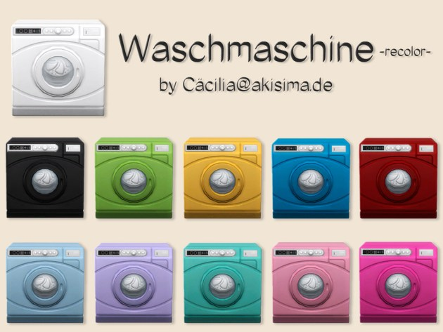 Washer machine recolors by Cäcilia at Akisima image 10016 Sims 4 Updates