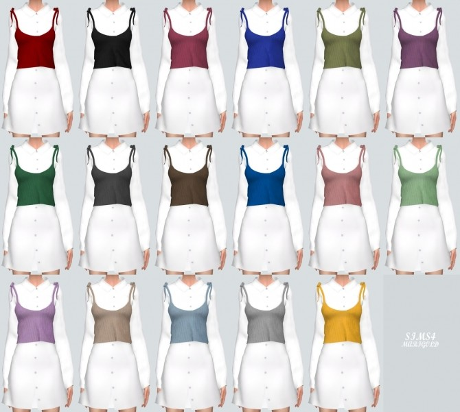 Long Shirt With Bustier at Marigold image 1009 670x601 Sims 4 Updates