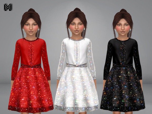 MP Girl Sparkly Dress by MartyP at TSR image 101 Sims 4 Updates