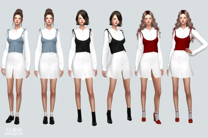 Long Shirt With Bustier at Marigold image 10115 670x446 Sims 4 Updates
