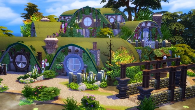 Sims 4 Hobbiton house at Akai Sims – kaibellvert