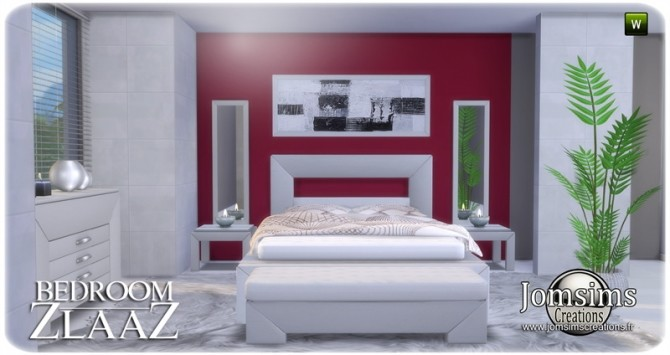 Sims 4 Zlaaz bedroom at Jomsims Creations