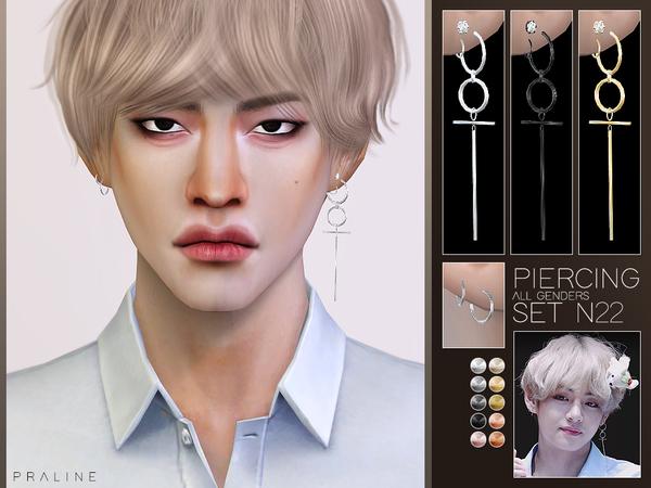 Piercing Set N22 (BTS V) by Pralinesims at TSR image 102 Sims 4 Updates